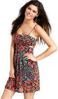 Material Girl Dress, Sleeveless Cutout Tribal-Print