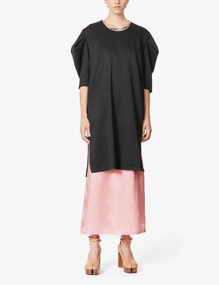 MM6 MAISON MARGIELA Puff-sleeve wool-blend mini dress