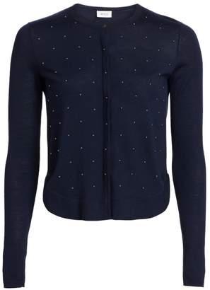 Akris Punto Studded Wool Cardigan