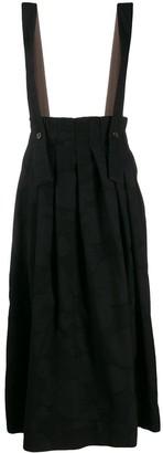 UMA WANG dungaree style pleated skirt