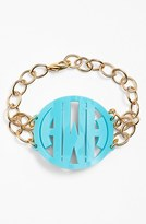 Moon and Lola Women's 'Annabel' Large Personalized Monogram Bracelet