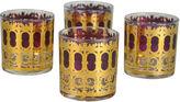One Kings Lane Vintage Metallic Gold Cocktail Glasses, S/4
