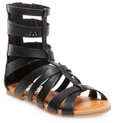Stevies Girls' #STEPHIE Gladiator Sandals - Black