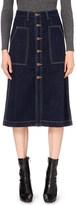 Mo&Co. A-line denim skirt