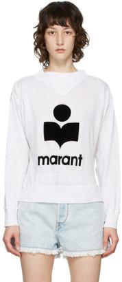 Etoile Isabel Marant White Mock Neck Kilsen Sweatshirt