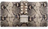 Mario Valentino Valentino By Cocotte Python-Print Clutch Bag