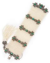 5.00 Total Ct. Diamond, Emerald & Natural Seed Pearl Tassel Bracelet