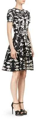 Alexander McQueen Two-Tone Wool Jacquard Dress