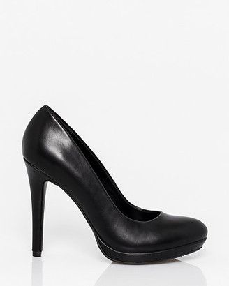 Le Château Faux Leather Almond Toe Platform Pump