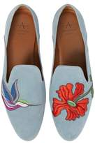 Aquatalia Emmaline Embroidered Loafer