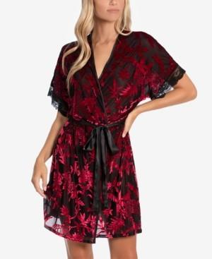 Linea Donatella Mariposa Burnout-Velvet Wrap Robe