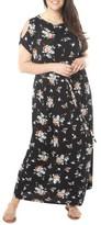 Dorothy Perkins Plus Size Women's Cold Shoulder Jersey Maxi Dress