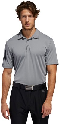 adidas Men's Regular-Fit 3-Stripe Basic Performance Polo