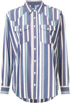 Julien David striped long sleeve shirt