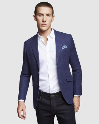 Oxford Blake Linen Cotton Check Blazer