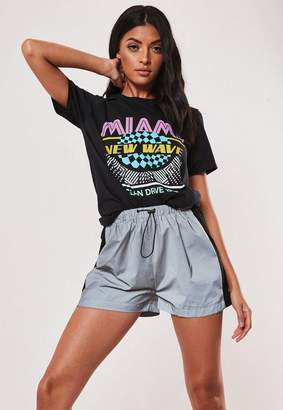 Missguided Black Miami 80S Graphic T Shirt