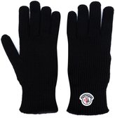 Moncler logo plaque gloves - men - Virgin Wool - M