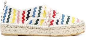 Loeffler Randall Alfie Rickrack-trimmed Canvas Espadrille Sneakers