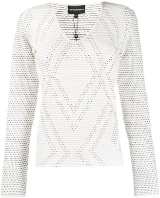 Emporio Armani Geometric Pattern Knit Jumper