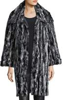 Caroline Rose Faux-Fur Easy Coat, Plus Size