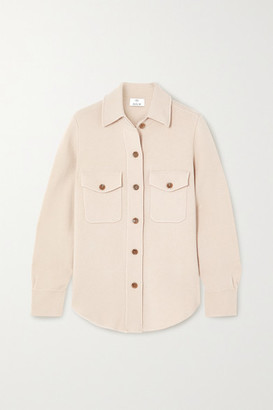 Allude Wool And Cashmere-blend Shirt - Beige