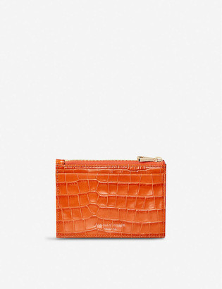 Aspinal of London Double-sided zipped leather cardholder