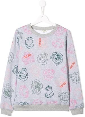 Kenzo TEEN tiger print sweatshirt