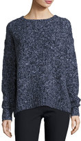 Vince Chunky Long-Sleeve Pullover Sweater, Blue