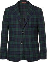Barena - Unstructured Black Watch Checked Wool-blend Blazer