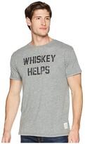 Original Retro Brand The Whiskey Helps Short Sleeve Tri-Blend Tee (Streaky Grey) Men's T Shirt