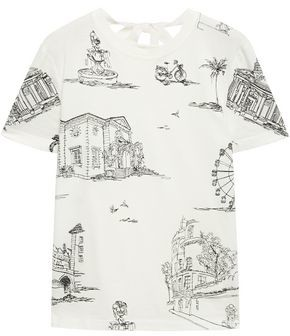 Maje Toulouse Embroidered Cotton-jersey T-shirt