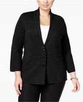 Alfani Plus Size Shawl-Collar Knit Jacket, Only at Macy's