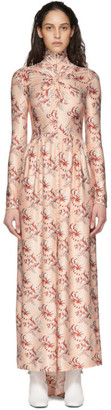 Paco Rabanne Pink Printed Long Sleeve Dress