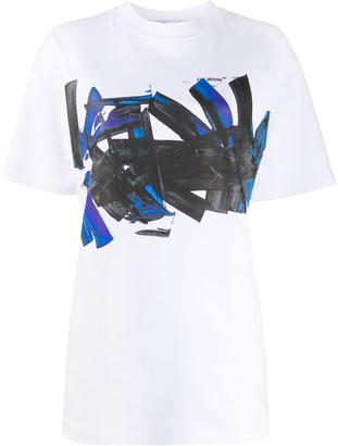 Off-White Tomboy brush-stroke print T-shirt