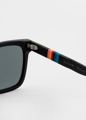 Paul Smith Matte Black 'Durant' Sunglasses