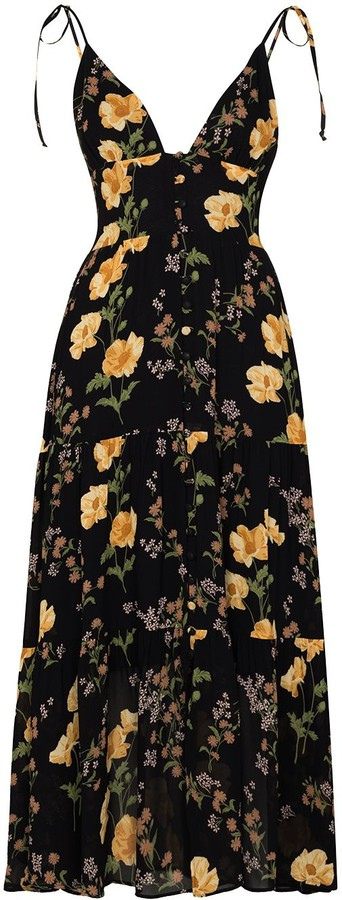 Reformation Jaden floral-print midi dress