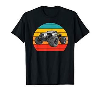 Cool Vintage Retro Monsters Truck Sunset Men Women T Shirt