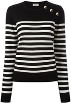 Saint Laurent striped sailor jumper - women - Wool - S
