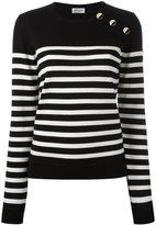 Saint Laurent striped sailor jumper - women - Wool - S