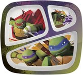 Zak Designs Zak! Designs Three-Section Plate - TMNT
