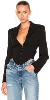 Stella McCartney Corset Blazer Jacket in Black.