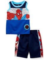Children's Apparel Network Spider-Man Blue & Red Tank & Shorts - Toddler & Boys