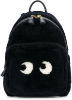 Anya Hindmarch Mini eyes backpack - women - Sheep Skin/Shearling - One Size