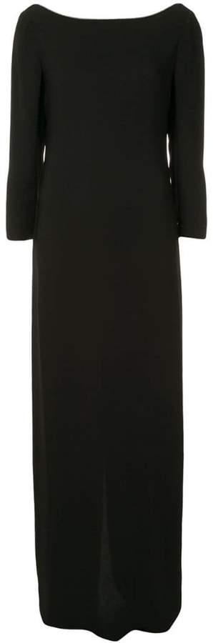 Fabiana Filippi 3/4 sleeve long dress