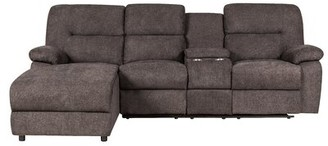 Latitude Run Elosie Left Hand Facing Reclining Sectional Upholstery Color: Light Brown