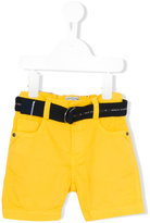 Lapin House - belted denim shorts - kids - Cotton/Spandex/Elastane - 12 mth