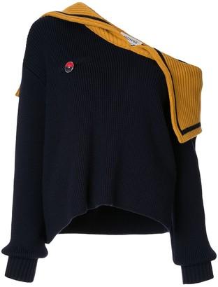 Monse Off-Shoulder Sailor Knit Jumper