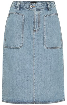A.P.C. Nevada denim midi skirt