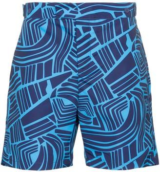 Frescobol Carioca Tidal print swim shorts