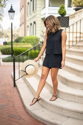 Gibson Dahlia Sleeveless Layered Romper